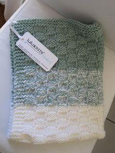 ❤︎ basket weave knitted baby blanket - free pattern by lulustar - lulu-knits.blogspot.com
