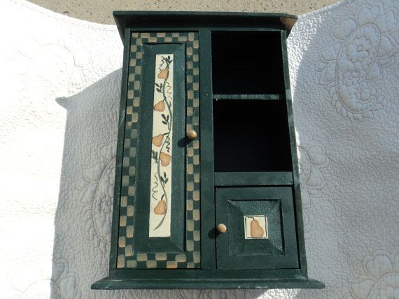 Small painted wooden shelf/stands alone/ for by WhiskeysWhims