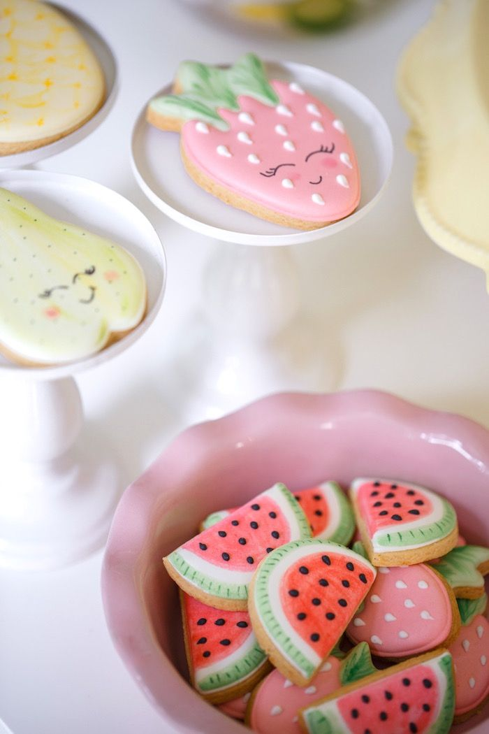 Cookies from a Tutti Frutti Birthday Party via Kara's Party Ideas | KarasPartyIdeas.com (35)