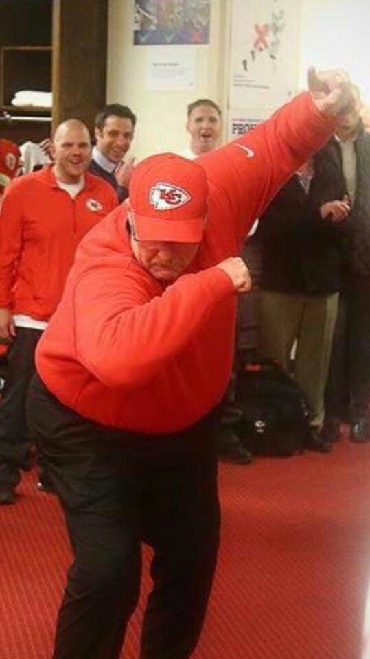 No caption  needed. Andy Reid and the chiefs are in the playoffs!!!!