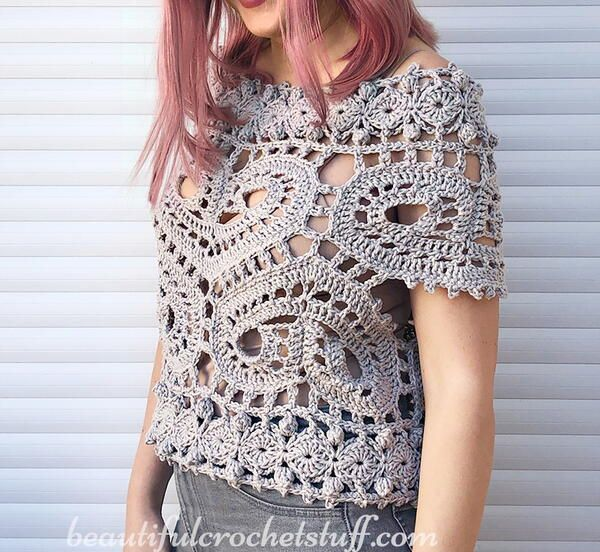 White Crochet V neck Top Open Knit Crochet Vintage Top Fine Dainty White Long Sleeve Top |Crochet Doily Style Top Vintage Crochet Top