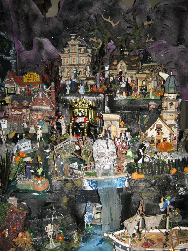 halloween village display dept 56 halloween display 2011 halloween village display scene 1702