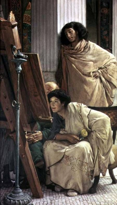 Sir Lawrence Alma-Tadema - A Visit to the Studio