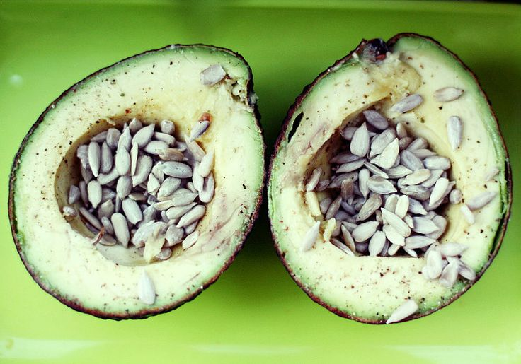 Dice a quarter of a creamy avocado and sprinkle with salted sunflower seeds for a crunchy kick.