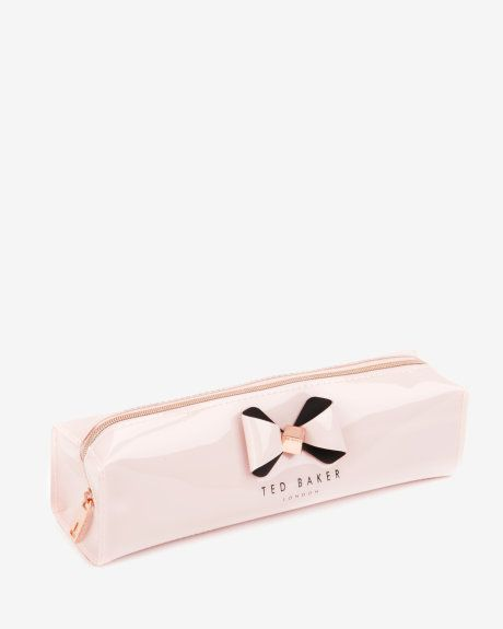 Bow detail pencil case - Pink | Gifts for Her | Ted Baker ROW