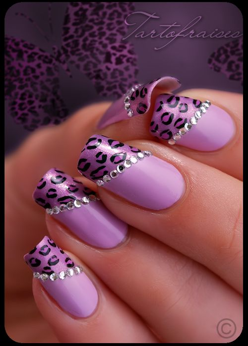 purple goddess nails