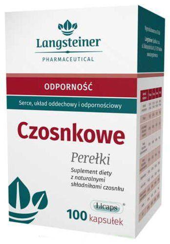 Beads garlic x 100 capsules, garlic supplements, natural antibiotics