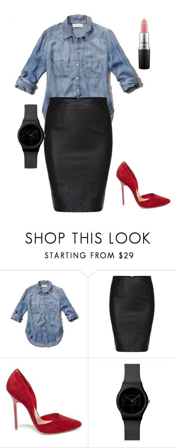 """""""Simple Plus Size Office Outfit"""" by migalowa on Polyvore featuring Abercrombie & Fitch, Steve Madden, MAC Cosmetics, women's clothing, women's fashion, women, female, woman, misses and juniors"""