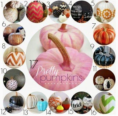 Pretty Pumpkins // Decorating Pumpkins without Carving