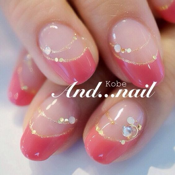 Embellished pink french