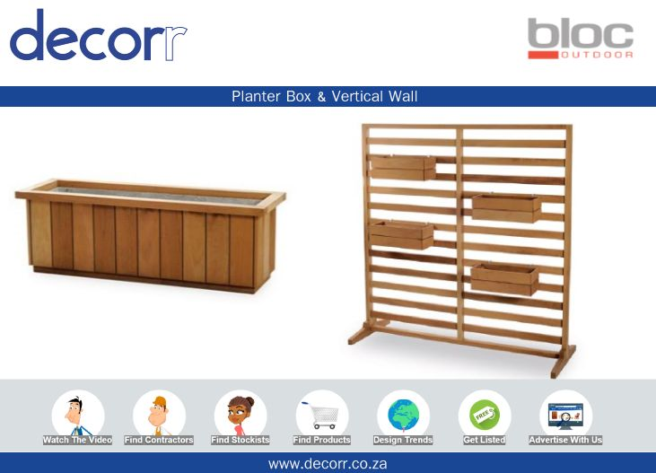 #DecorrOutdoor Planter box & Vertical Wall @BlocOutdoor http://www.decorr.co.za/bloc-outdoor/