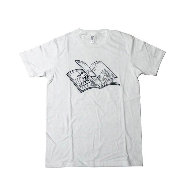 Noritake T-shirt : MAGAZINE WAVE (white)