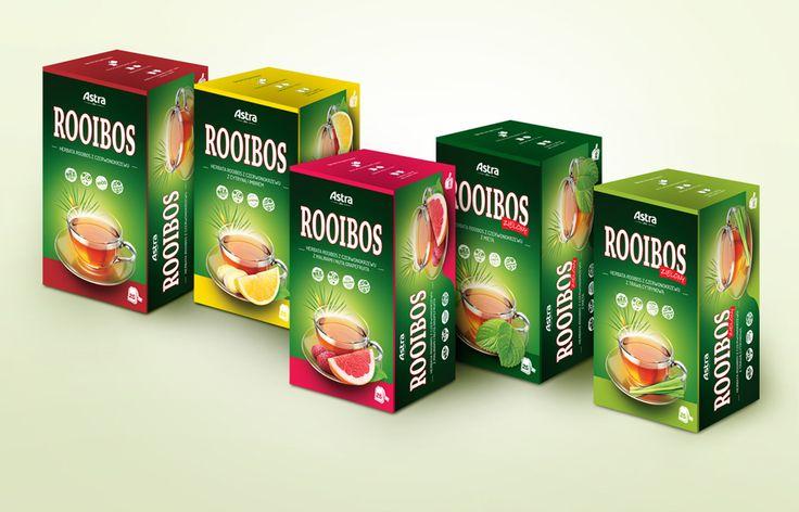 PPK Astra / Rebranding opakowań linii hebarty Rooibos.