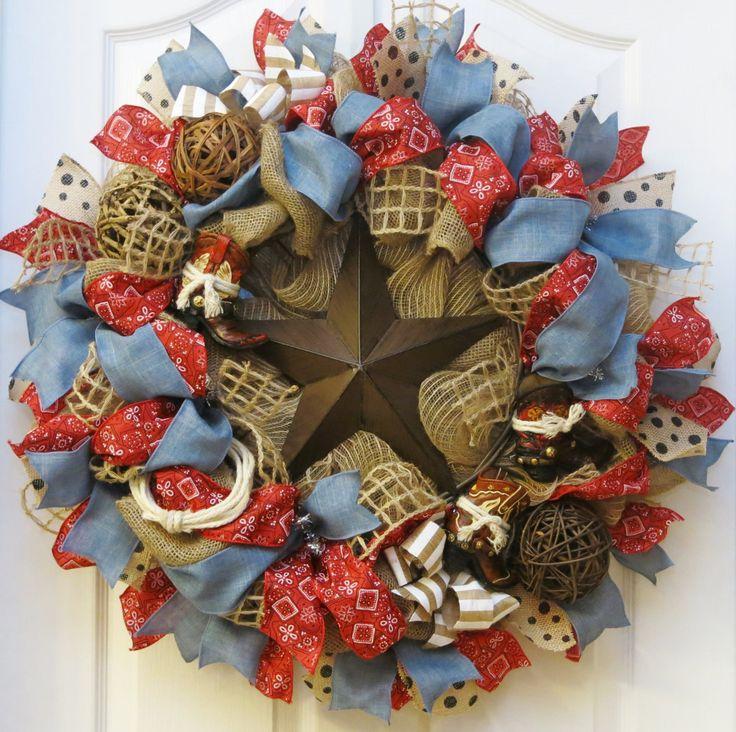 Cowboy Christmas Decor: Best 25+ Western Wreaths Ideas On Pinterest