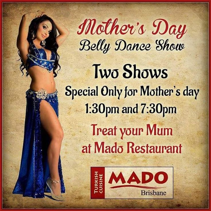 Give your mum a break from the kitchen and treat her to a traditional Turkish meal at Mado Restaurant. There will be a special mother's day belly dancing performance at 1:30pm and 7:30pm. For bookings call us on (07) 3844 7111 or send an email to bookings@madorestaurant.com.au…