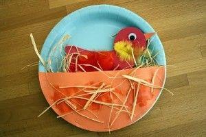 paper plate bird craft idea for kids (1)