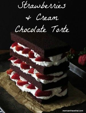 Elevate dessert to new heights with this Strawberries And Cream Chocolate Torte.   Low Carb, Gluten-free, Dairy-free, Paleo, Keto   lowcarbmaven.com