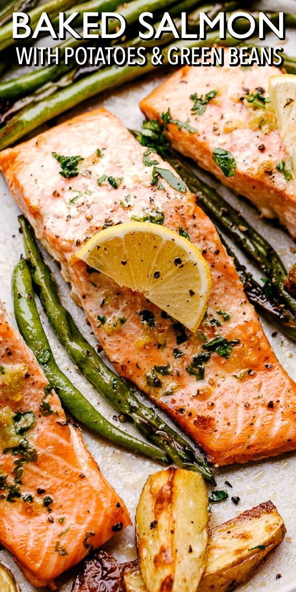Easy Baked Salmon Recipe With Potatoes One Pan Dinner Idea In 2020 Salmon Recipes Salmon Recipes Baked Healthy Baked Salmon