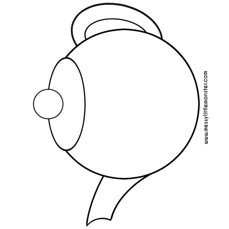 It is a photo of Witty Teapot Template Printable