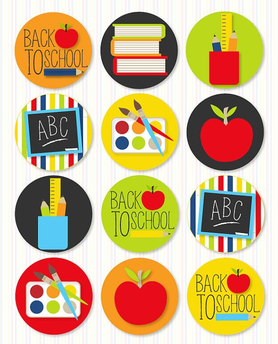 Back To School Party PRINTABLE Party Circles by Love by lovetheday, $14.00