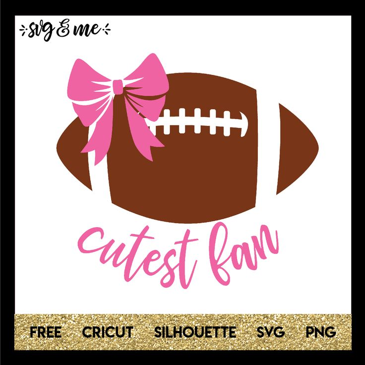 This free svg is perfect to make a baby onesie or T-shirt for your little girl who watches the game with daddy and roots on his favorite football team! Compatible with Cricut and Silhouette cutting machines. Check out more free svgs for football and the Superbowl too!
