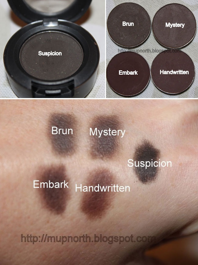 Swatches Mac Matte Dark Brown Eyeshadows Mupnorth 5
