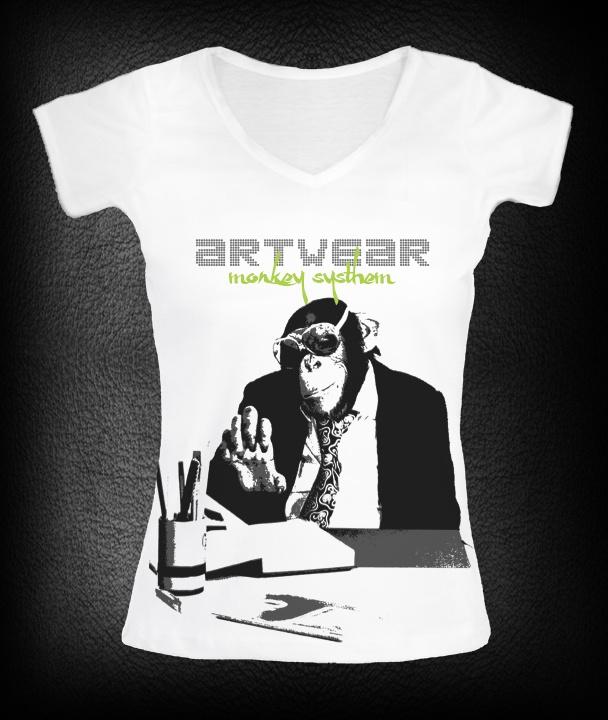 T-shirt femme monkey Boss    P-plum
