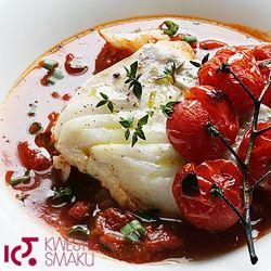 Dorsz w pomidorach z tymiankiem.