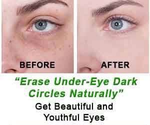 Under Eye Dark Circles Removal: Simple DIY   1. Tomatoes are highly effective for treating dark circles. You can prepare a mixture using 1 teaspoon of fresh tomato juice, ½ teaspoon of lemon juice, a pinch of turmeric and gram flour (besan). Apply it gently under the eye and leave it for ten4 minutes and then rinse it off.