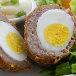 Baked Scotch eggs, having these for dinner today with salad. I love that they are baked rather than deep fried.