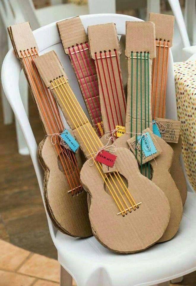 Cool Crafty Idea Cardboard Craft Ideas Instrument Craft Music Instruments Diy Music Crafts Instrument Craft
