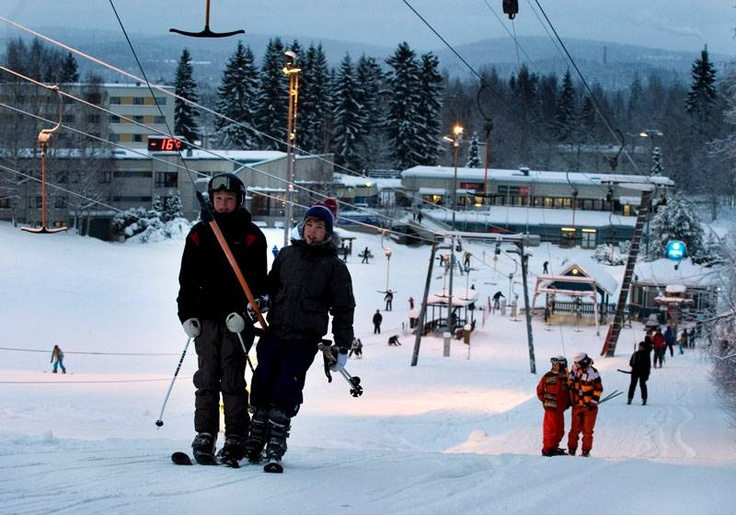 Laajavuori skiing centre just 7km from city center.