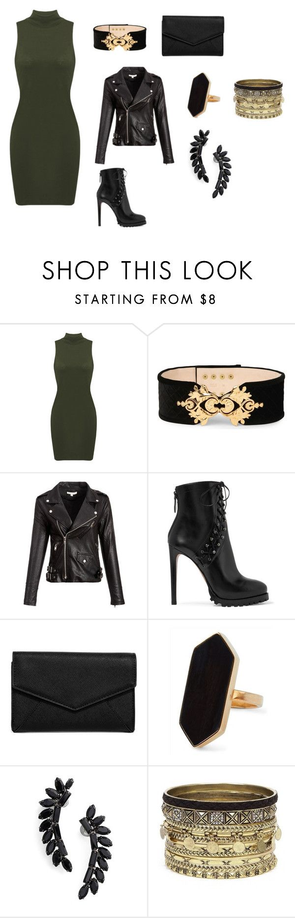 """""""rocker style"""" by sara-scott-i on Polyvore featuring Balmain, Alaïa, LULUS, Jaeger, Cristabelle and Daytrip"""