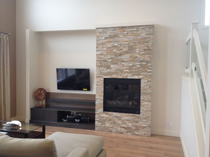 Featuring: MPD40RNE Fireplace and Canyon Real Stacked Stone