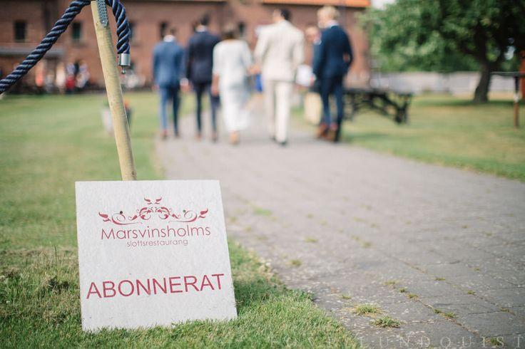 Bröllop på Marsvinsholms slott. Foto: Tove Lundquist.