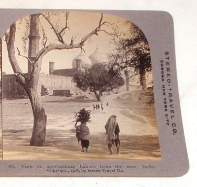 View on approaching Lahore from the West, 1908