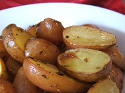 Roasted lemon and rosemary potatoes