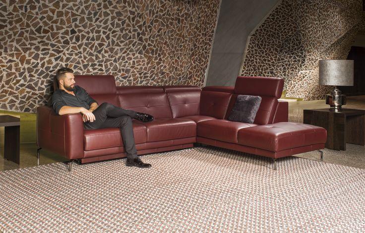 sofa Riposta #kler #sofa #skóra #salon #design #wypoczynek #relaks - designer couch modelle komfort
