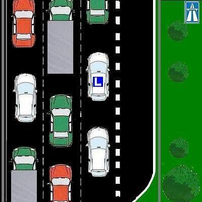 1 Mag je bij rijden in een file rechts inhalen?