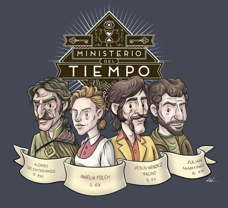 El Ministerio del Tiempo by Ali del Rey Ilustra #alidelreyilustra #elministeriodeltiempo #fanart