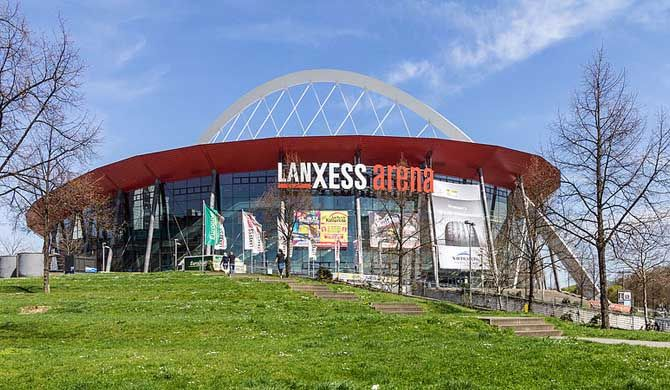 Lanxess Arena Lanxess Arena (originally Kölnarena, German for Cologne Arena) is an indoor arena, in Cologne, North Rhine-Westphalia, Germany. It is known as the 18,500-capacity home... #Attraction #Landmark  #Backpackers #Hostelman #Travel #Landmark