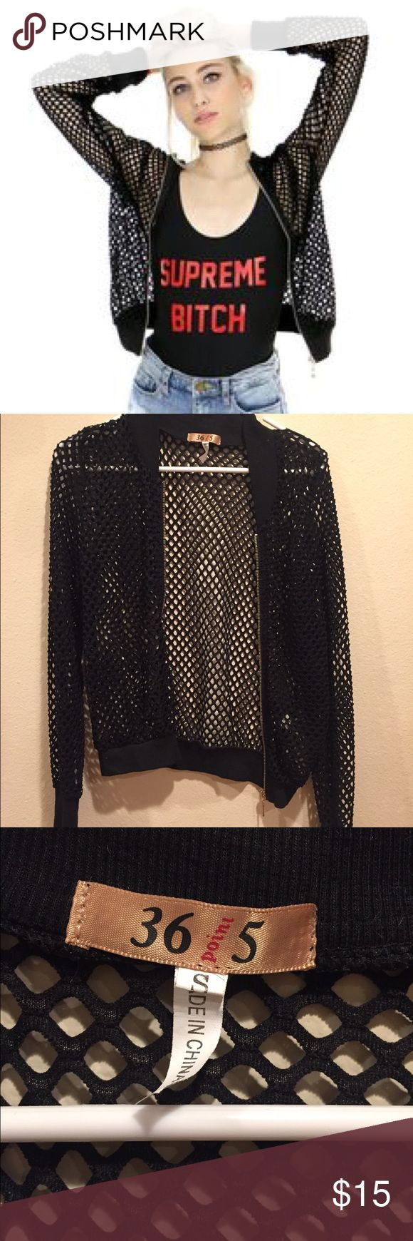 Shop Jeen Black Mesh Bomber Jacket Small NEW SHOP JEEN! ✨ Women's black mesh bomber jacket with fitted wrists and zip up enclosure. Size small  Never worn before, brand new!!! Shop Jeen Jackets & Coats