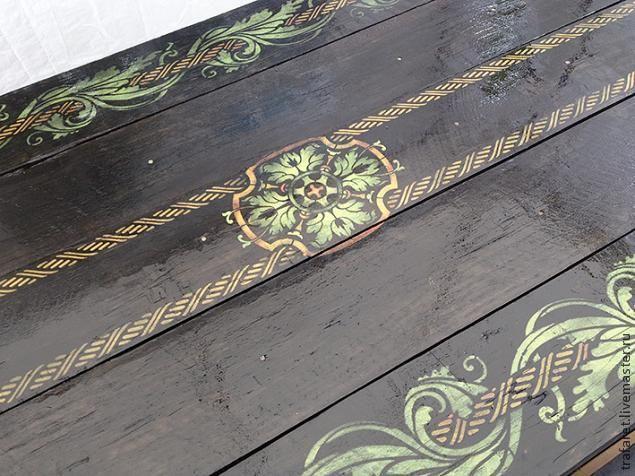 Расписываем стол с помощью трафарета. Мастер-класс по росписи трафаретами. DIY