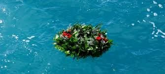 Image result for burial at sea wreath
