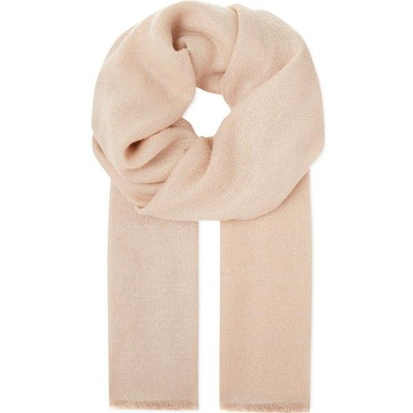 BRUNELLO CUCINELLI Metallic blend scarf ($1,095) ❤ liked on Polyvore featuring accessories, scarves, beige, metallic shawl, metallic scarves, brunello cucinelli and brunello cucinelli scarves