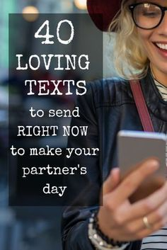 Loving texts to send your partner.