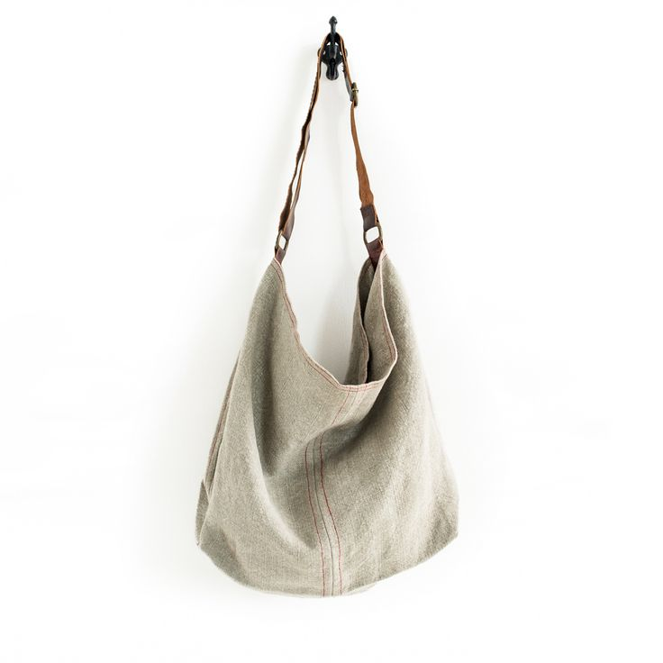 Jute Slouchy Leather Handle Cement