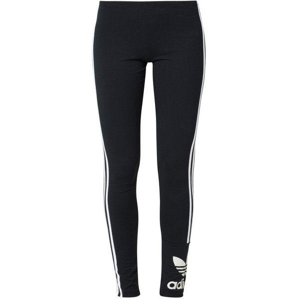adidas Originals Leggings (520 MXN) ❤ liked on Polyvore featuring pants, sport, bottoms, leggings, jeans, black and adidas originals