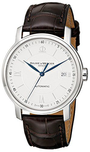 Baume & Mercier Men's 8791 Classima Automatic Leather Strap Watch Baume & Mercier http://smile.amazon.com/dp/B00221Q42S/ref=cm_sw_r_pi_dp_dGPAub038X9G5