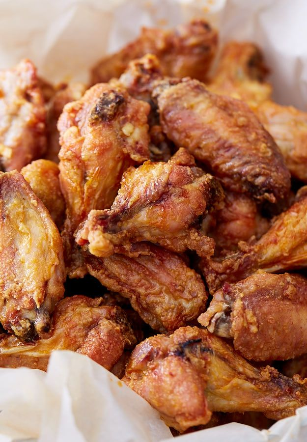 These baked chicken wings are extra crispy on the outside and very juicy inside. They are like deep-fried wings, only without a mess and added calories. Oh, and they only take 30 minutes to bake.